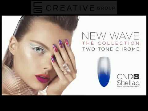 "CND Shellac ""Two Tone Chrome"" Nail Style"