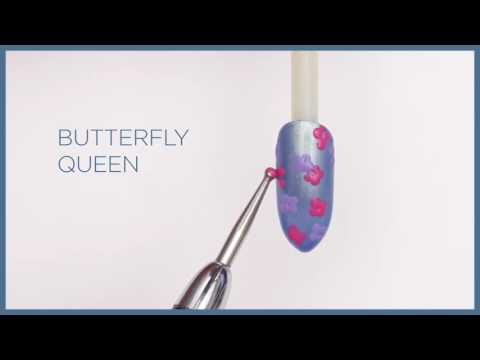 Garden Muse - Shellac Forget-Me-Not Design